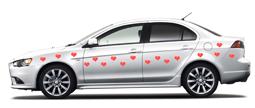 Магниты на свадебное авто