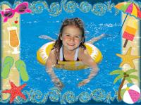 шаблон открытки 24 Пляжный